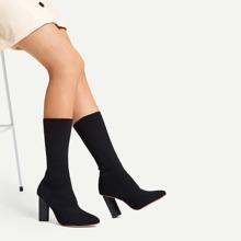 Plain Sock Boots