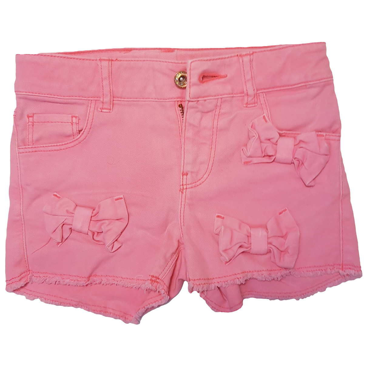Billieblush - Short   pour enfant en denim - rose