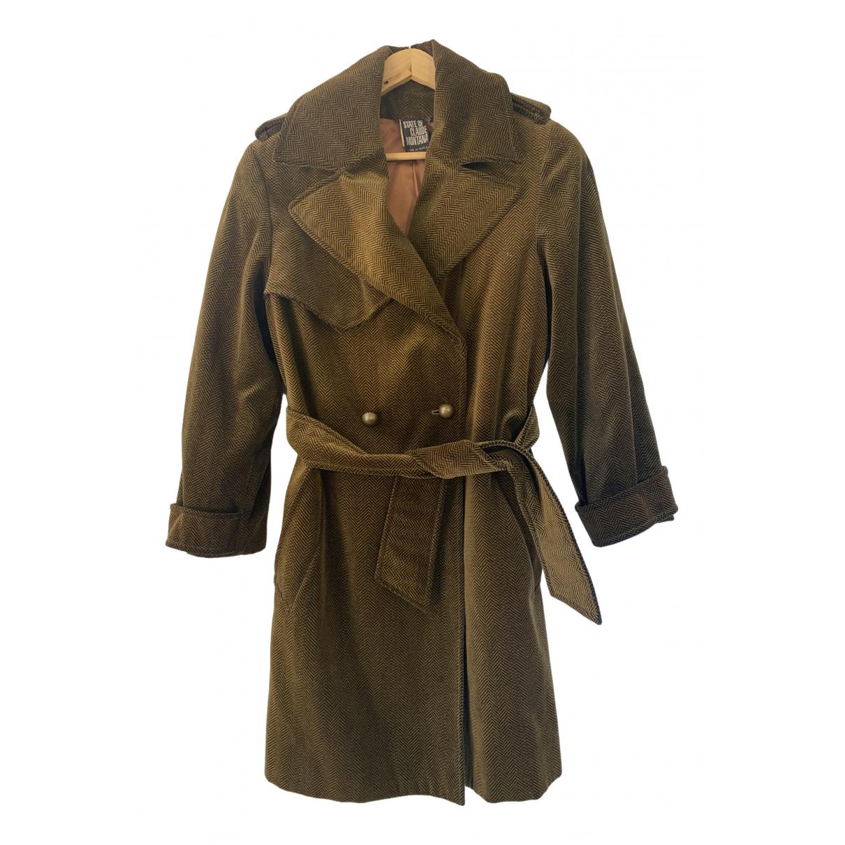 Claude Montana - Manteau   pour femme en velours - dore