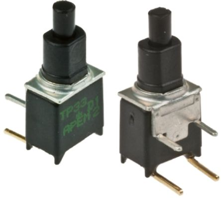 APEM Double Pole Single Throw (DPST) Momentary Push Button Switch, PCB, 20V