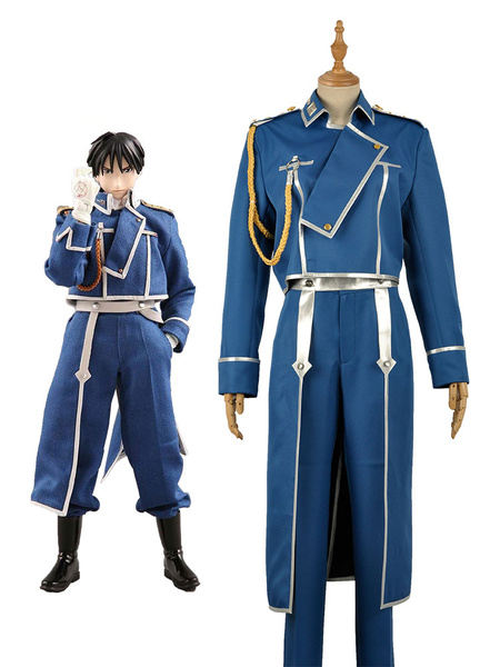Milanoo Fullmetal Alchemist Roy Mustang Military Cosplay Costume