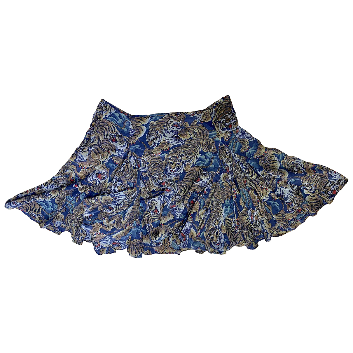 Kenzo N Blue Silk skirt for Women 38 FR