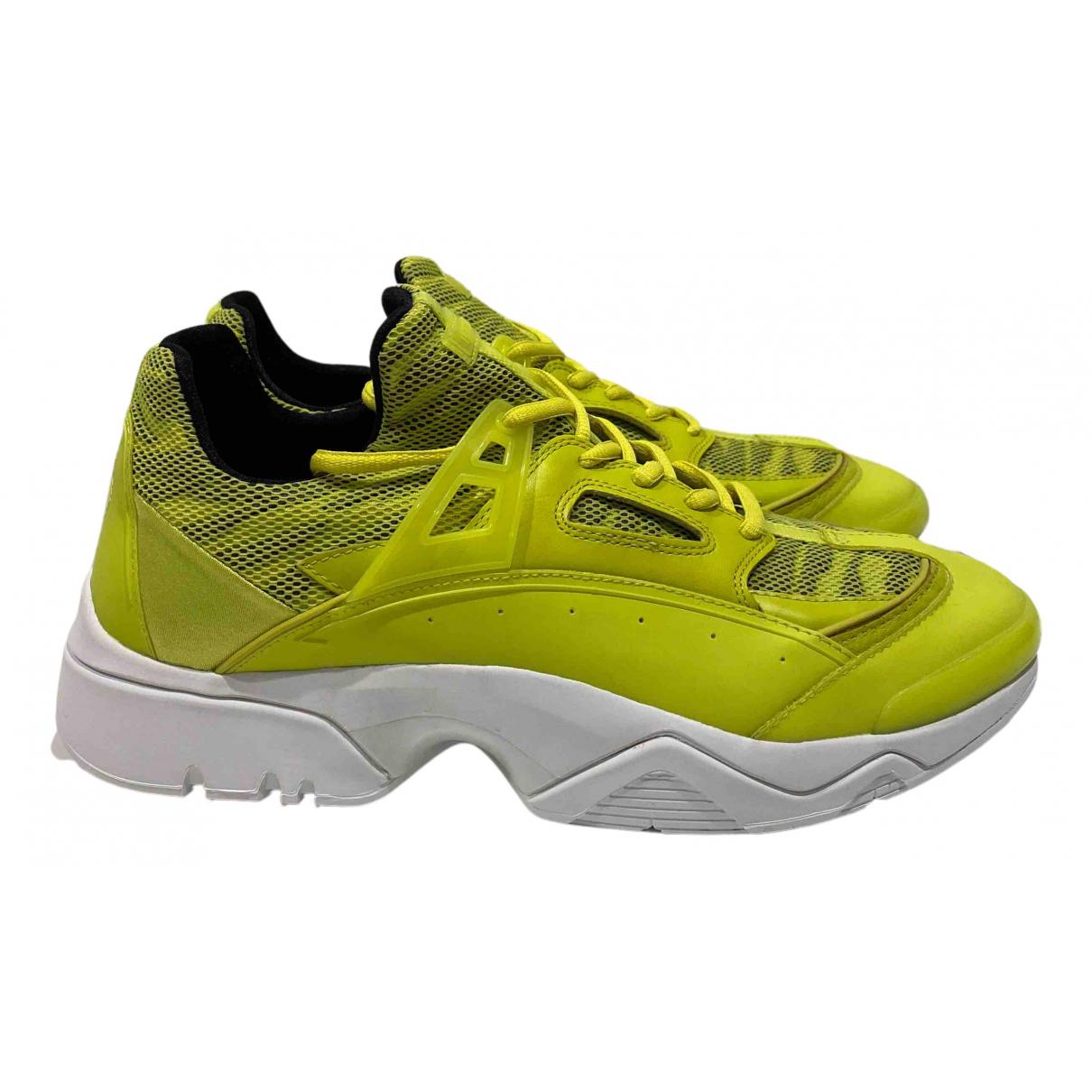 Kenzo - Baskets Sonic pour homme en toile - jaune
