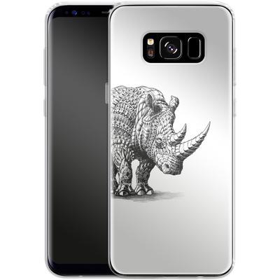 Samsung Galaxy S8 Silikon Handyhuelle - Rhinoceros von BIOWORKZ