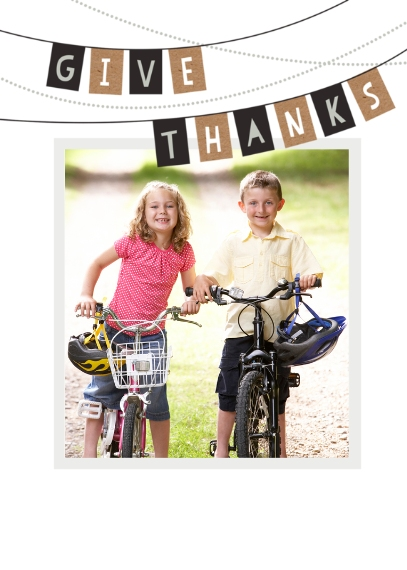 Thanksgiving Photo Cards Flat Matte Photo Paper Cards with Envelopes, 5x7, Card & Stationery -Elegant Thanksgiving