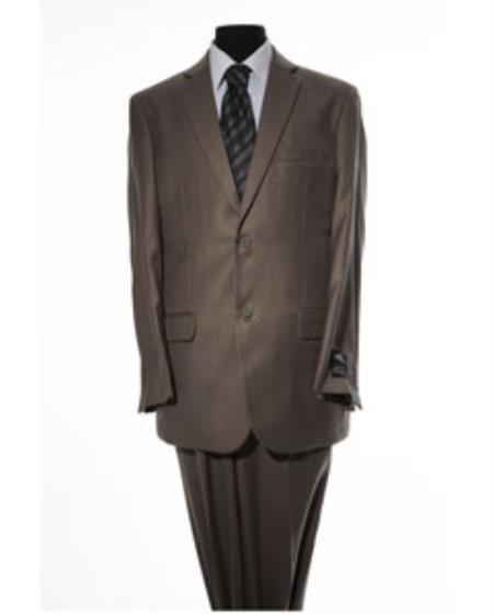 Mens Brown 2 Button 2 Piece Suit