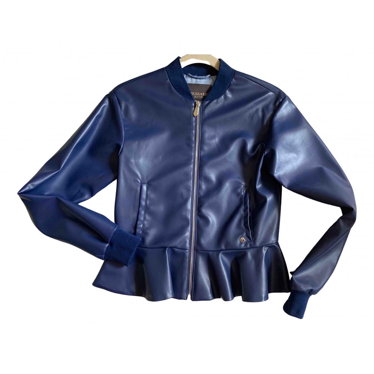 Trussardi - Blousons.Manteaux   pour enfant - bleu