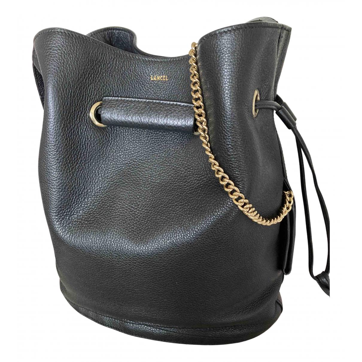 Lancel - Sac a main Huit pour femme en cuir - noir