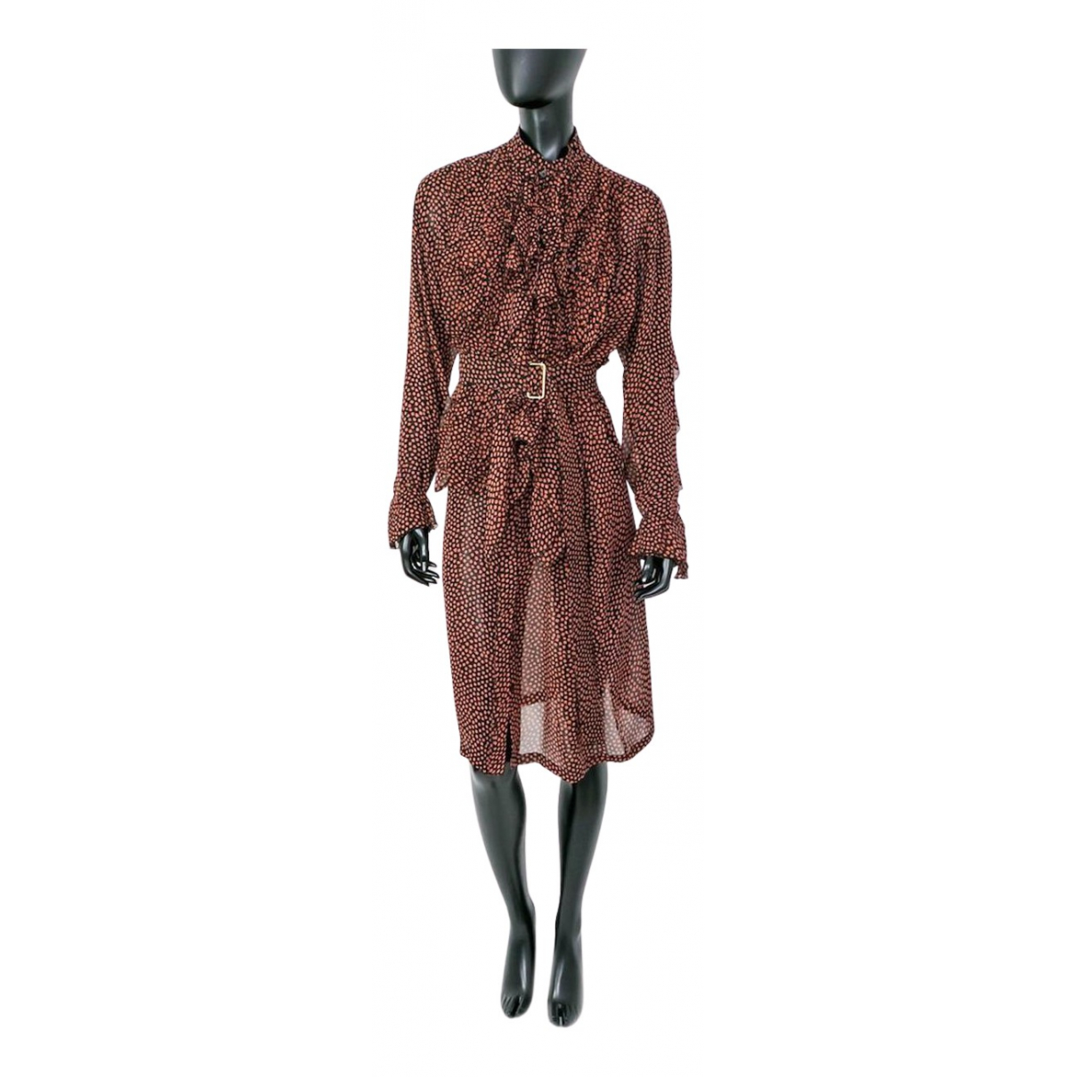 Dries Van Noten \N Kleid in  Orange Baumwolle