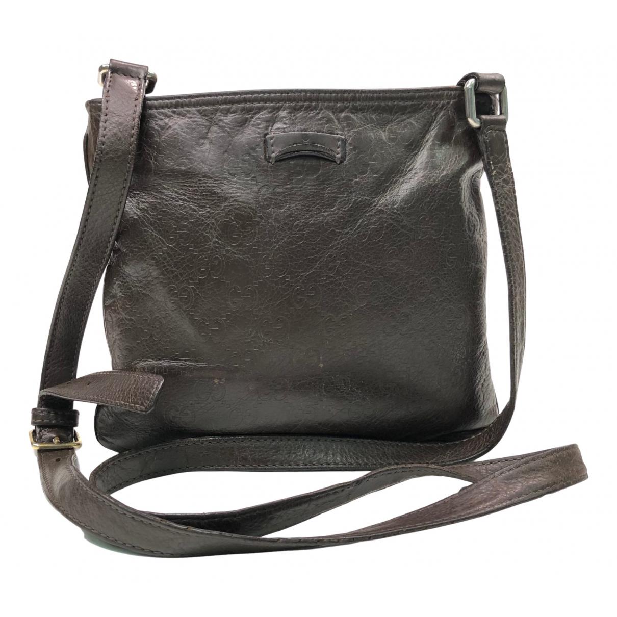 Gucci N Brown Leather bag for Men N