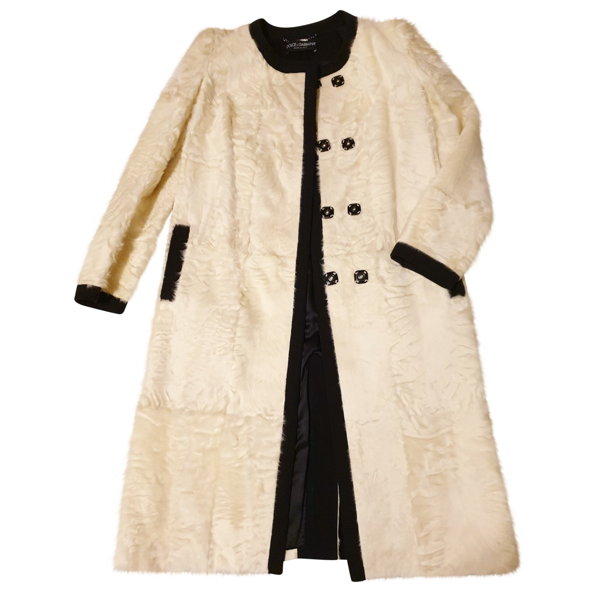 Dolce & Gabbana \N White Fur coat for Women 36 IT