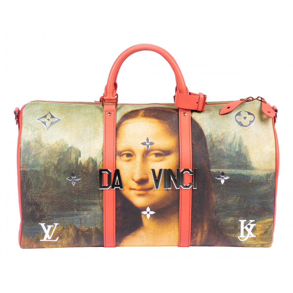 Louis Vuitton - Sac de voyage Keepall pour femme en toile - multicolore