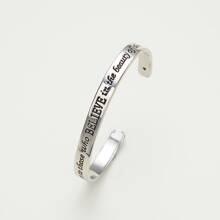 Slogan Design Cuff Bracelet