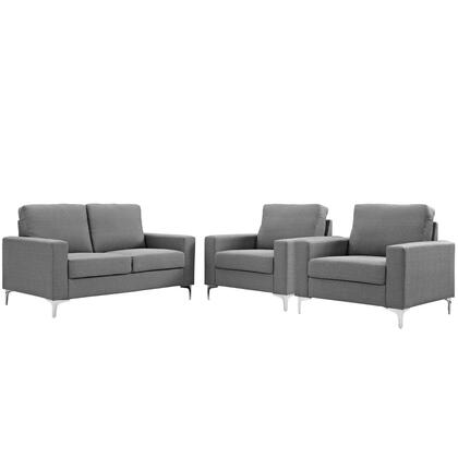 Allure Collection EEI-2985-GRY-SET 3 PC Sofa and Armchair Set with 5