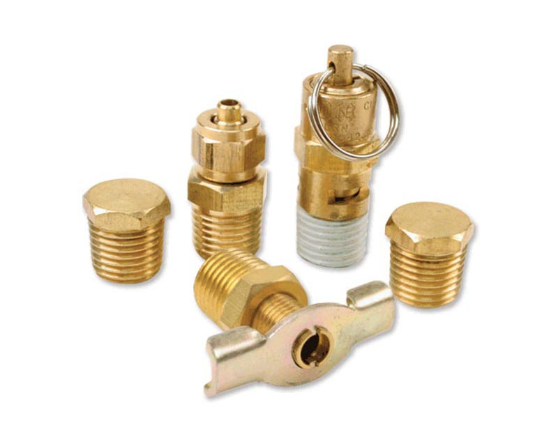 VIAIR 5 Pc. Tank Port Fittings Kit (For 150PSI Rated Systems)