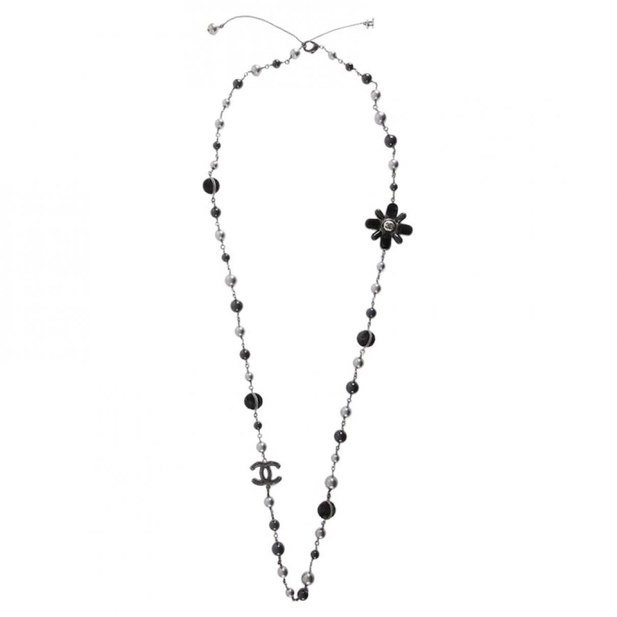 Chanel \N Halskette in  Schwarz Metall