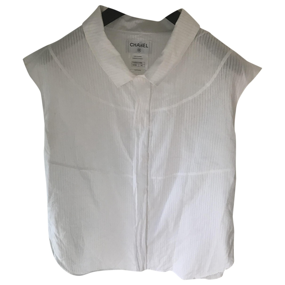 Chanel \N White Cotton  top for Women 44 FR