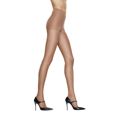 Hanes Silk Reflections Silky Sheer Control-Top Reinforced Toe Pantyhose, Ab , Beige