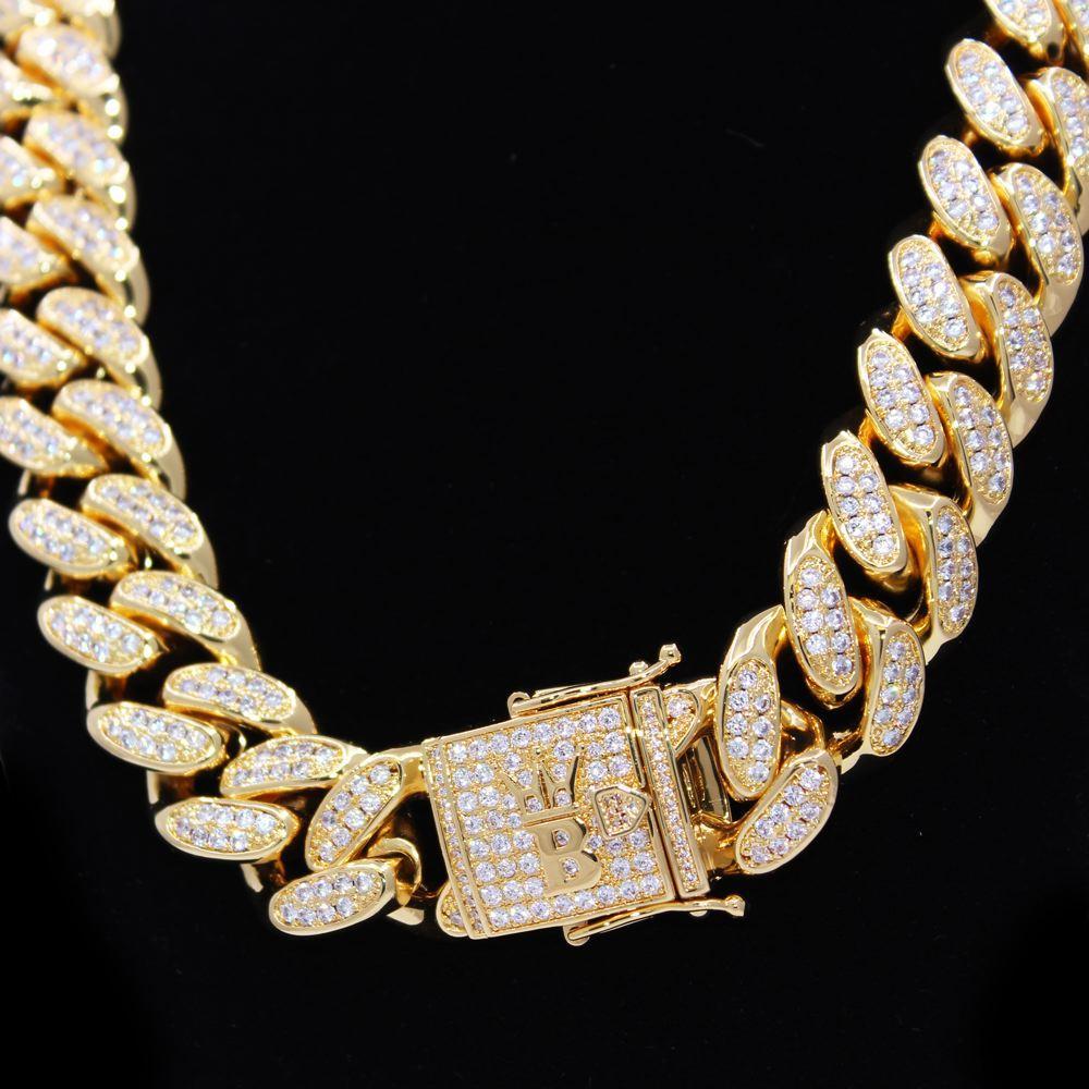 HEAVY 20MM Cuban Link Hip Hop Bling Bling Chain