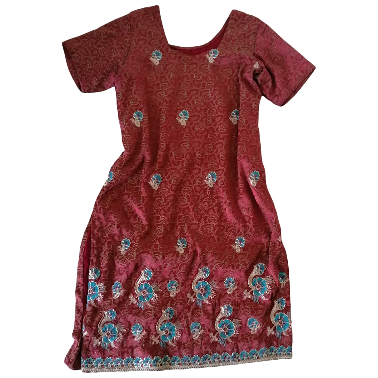 Non Signé / Unsigned \N Burgundy dress for Women One Size IT