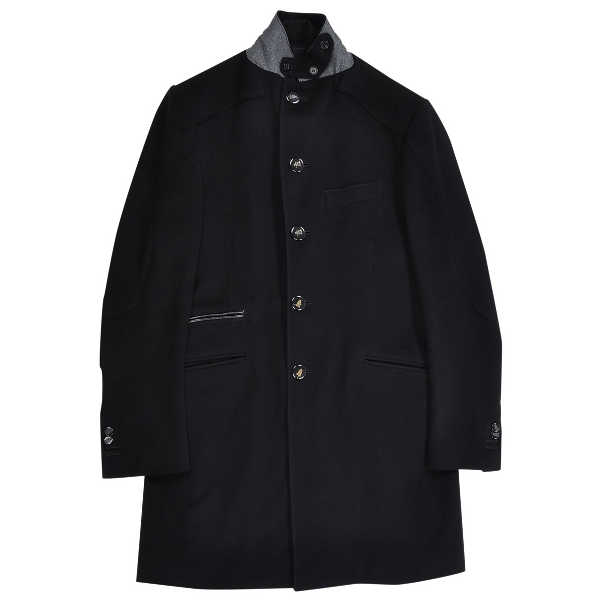 Corneliani \N Black Wool coat  for Men 48 IT