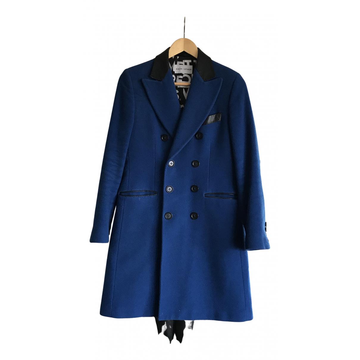 Each X Other - Manteau   pour femme en laine - bleu