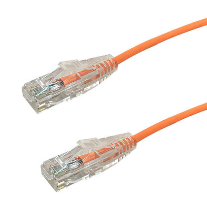 Câble de raccord ultra-mince Cat6 UTP - orange - 8pi