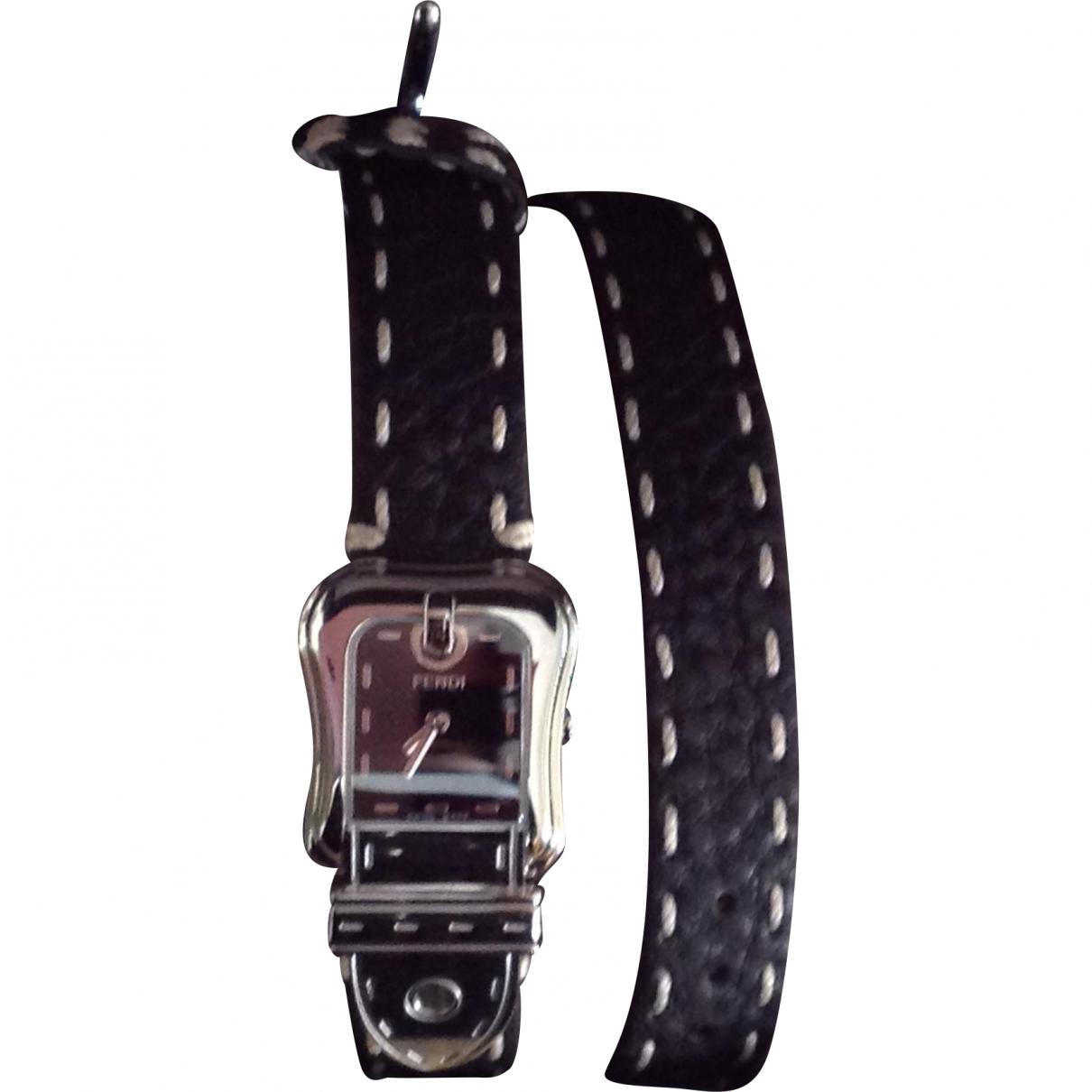 Fendi \N Black Steel watch for Women \N