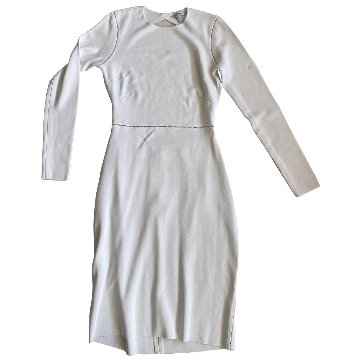 Max Mara - Robe   pour femme en coton - blanc