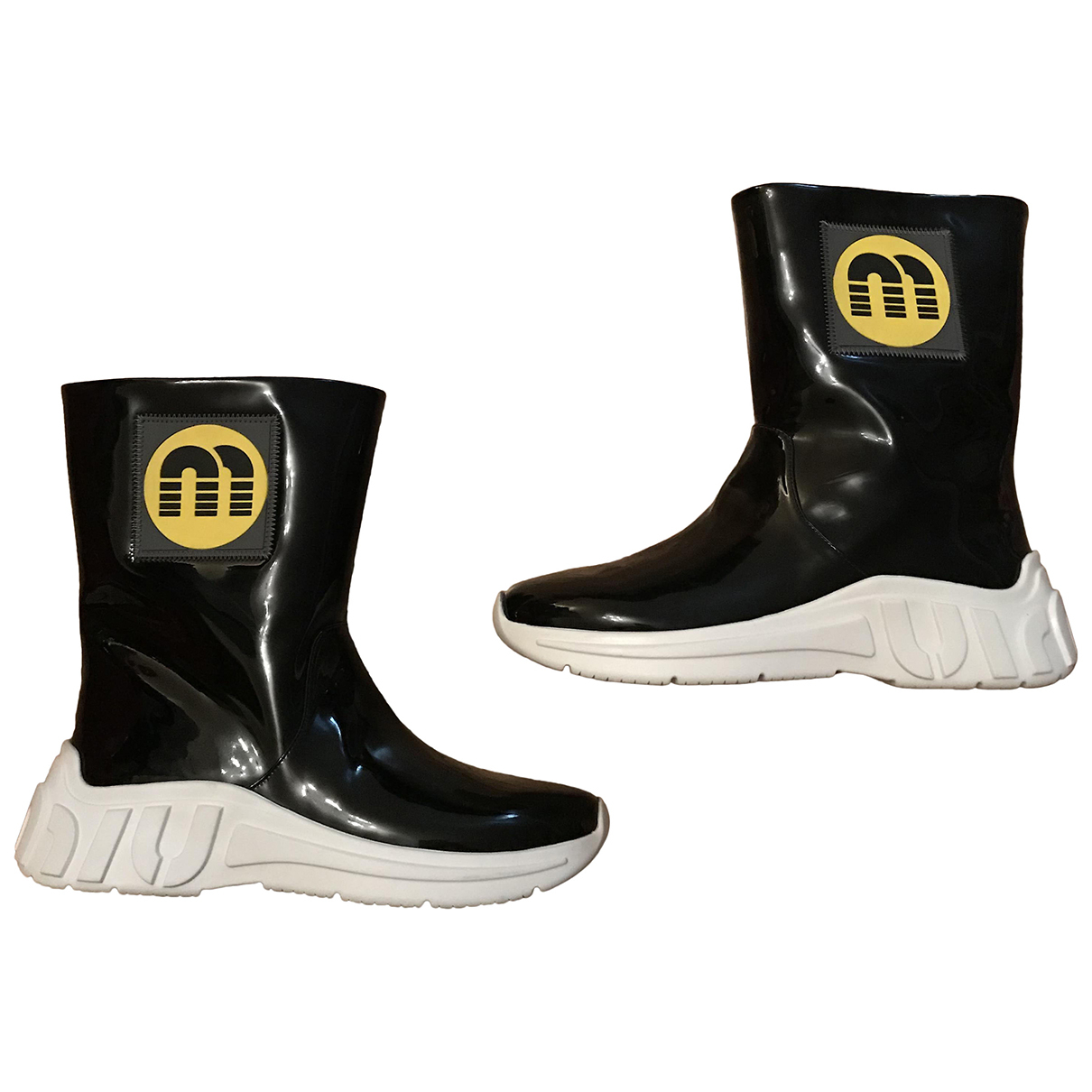 Miu Miu N Black Patent leather Boots for Women 36 EU