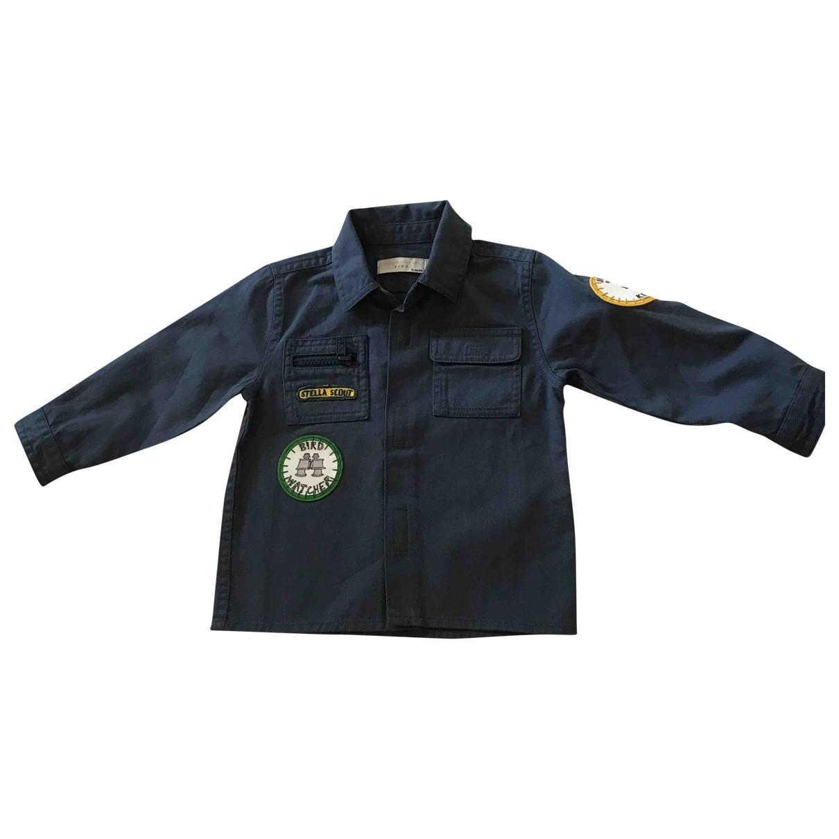 Stella Mccartney Kids - Top   pour enfant en coton - bleu