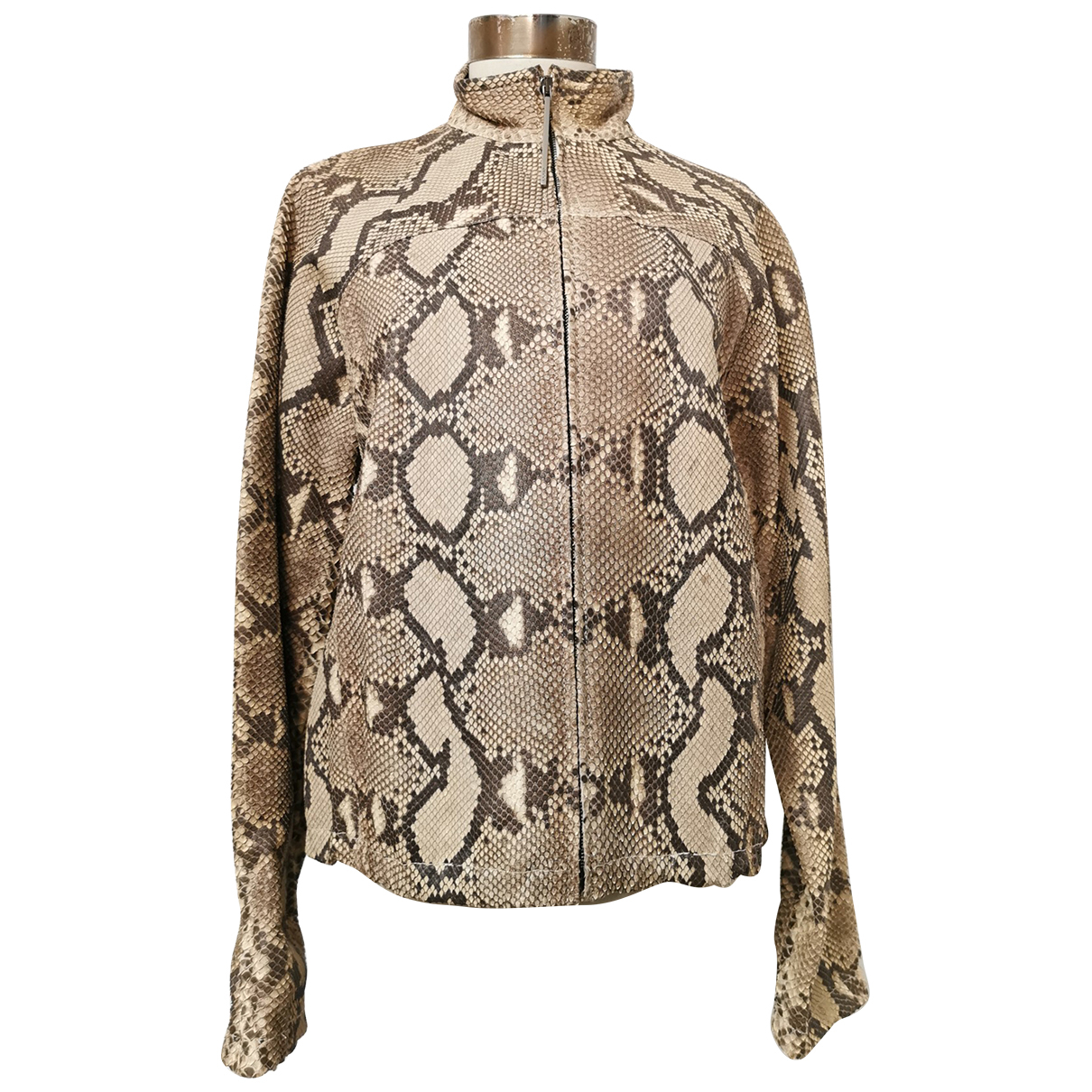 Gucci - Blouson   pour femme en python - beige