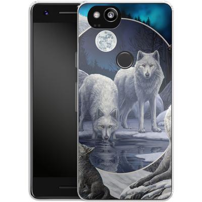Google Pixel 2 Silikon Handyhuelle - Wild Wolves von Lisa Parker