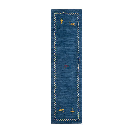 Safavieh Himalaya Collection Leo Solid Runner Rug, One Size , Blue