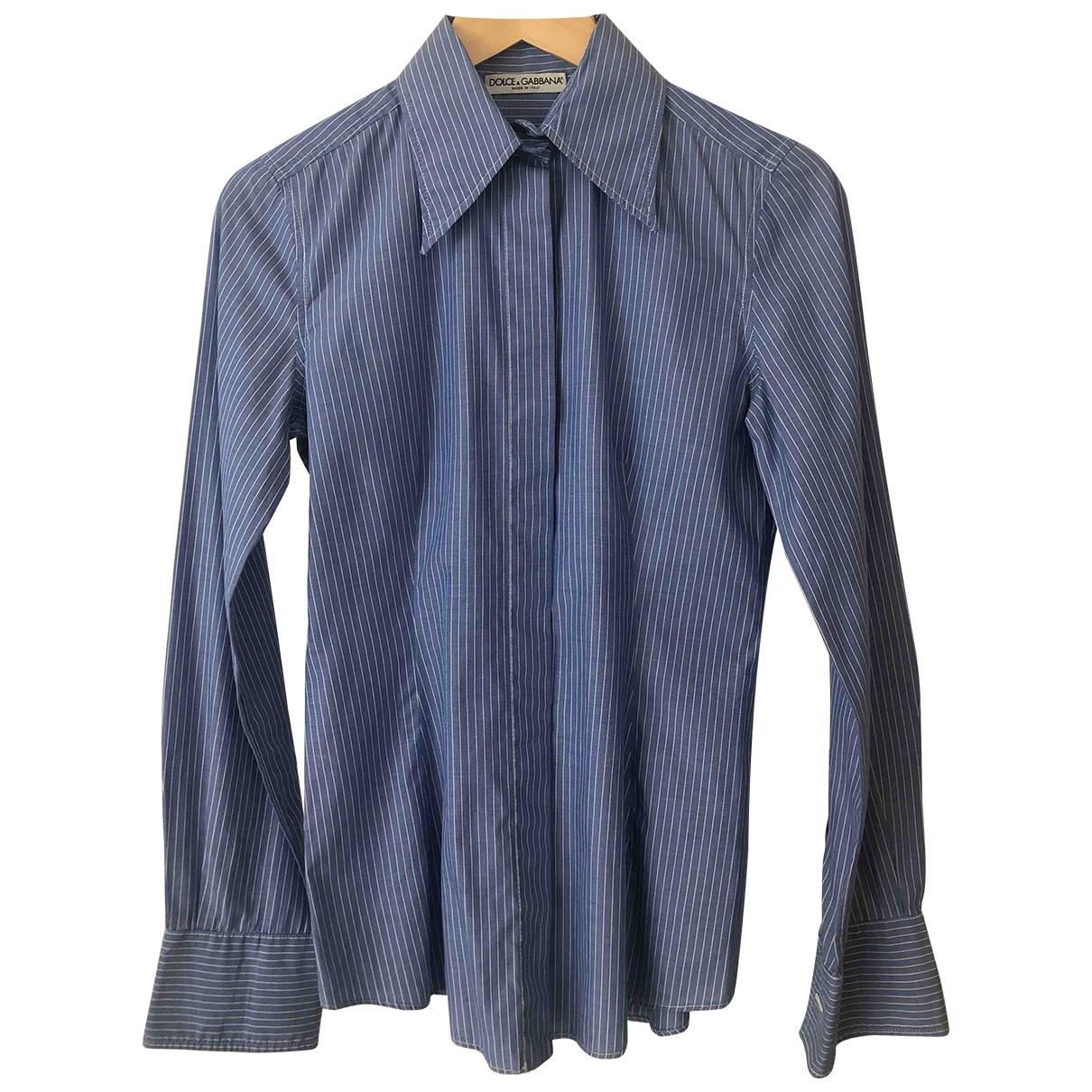 Dolce & Gabbana - Top   pour femme en coton - bleu