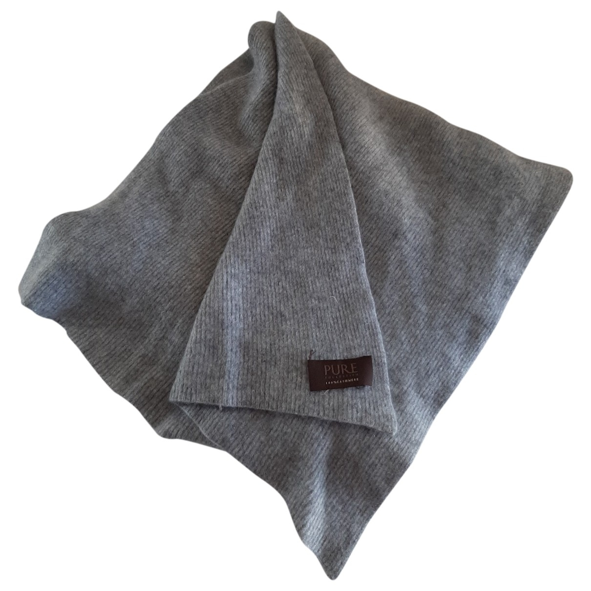 Pure Collection \N Grey Cashmere scarf for Women \N