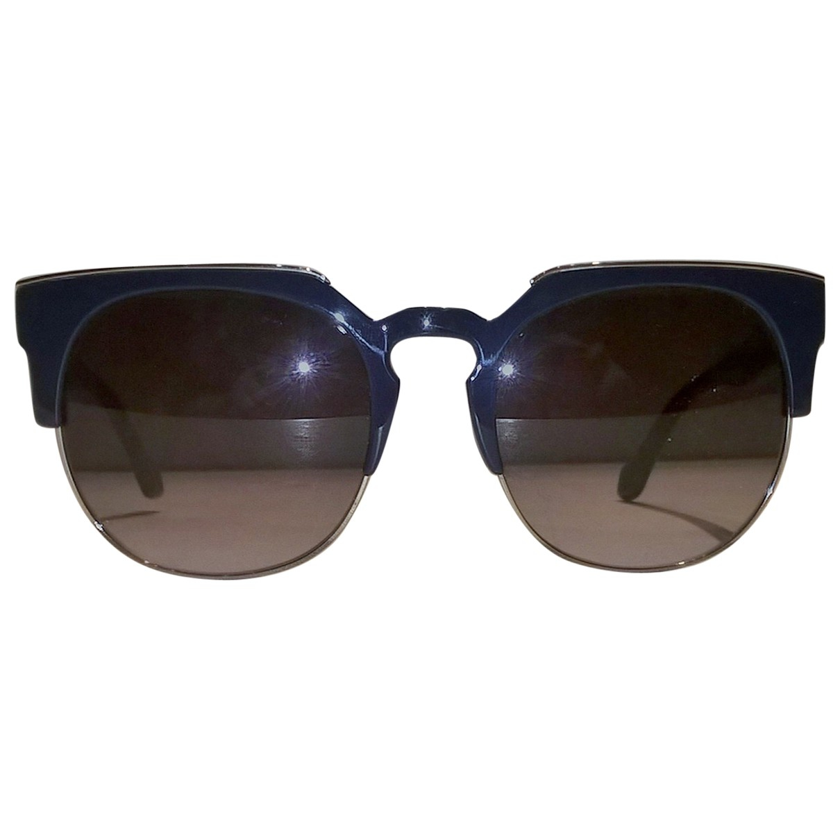 Balenciaga \N Sonnenbrillen in  Blau Kunststoff