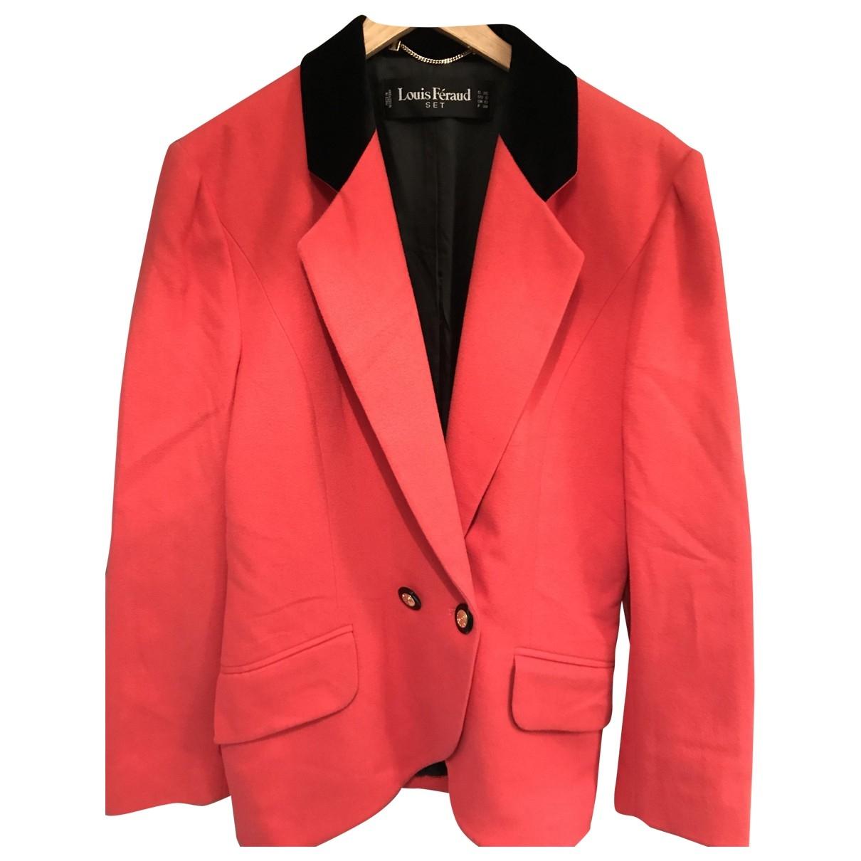 Louis Feraud \N Orange Wool jacket for Women 40 FR