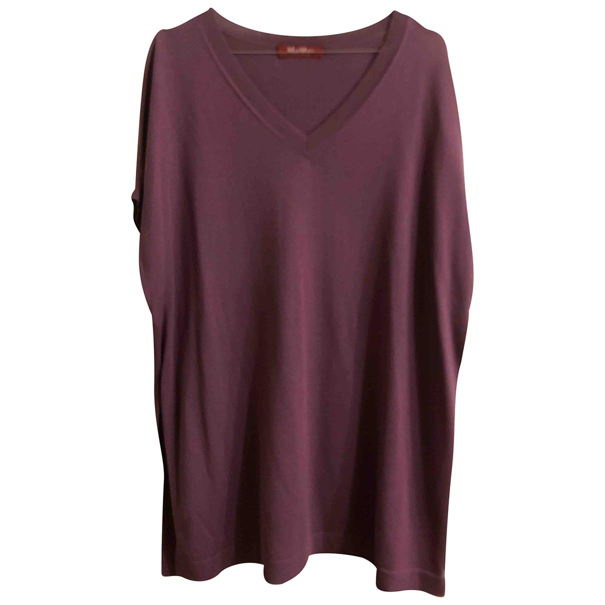 Max Mara - Pull   pour femme en soie - violet