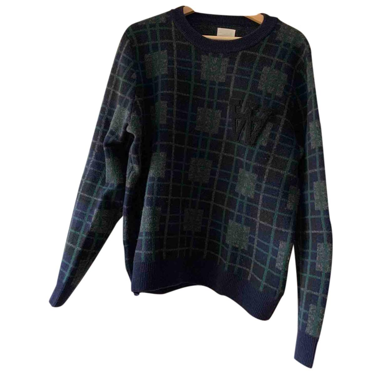 Wood Wood \N Pullover.Westen.Sweatshirts  in  Blau Wolle