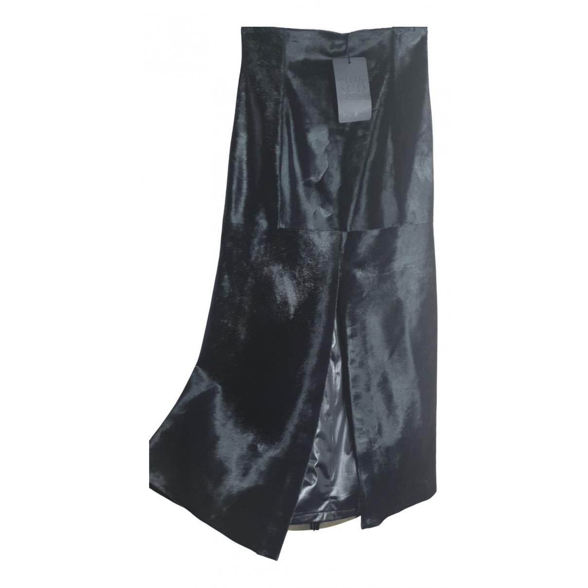 Falda maxi de Piel de potro de imitacion Plein Sud