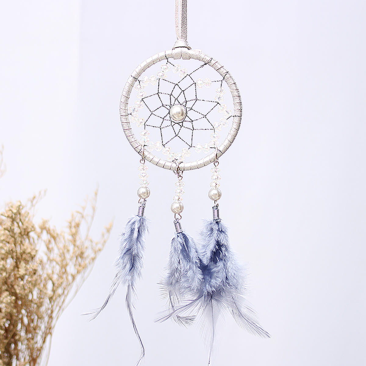 Car Ornaments Feather Dream Catcher Wind Chimes Interior Crafts Creative Gifts Handmade Jewelry