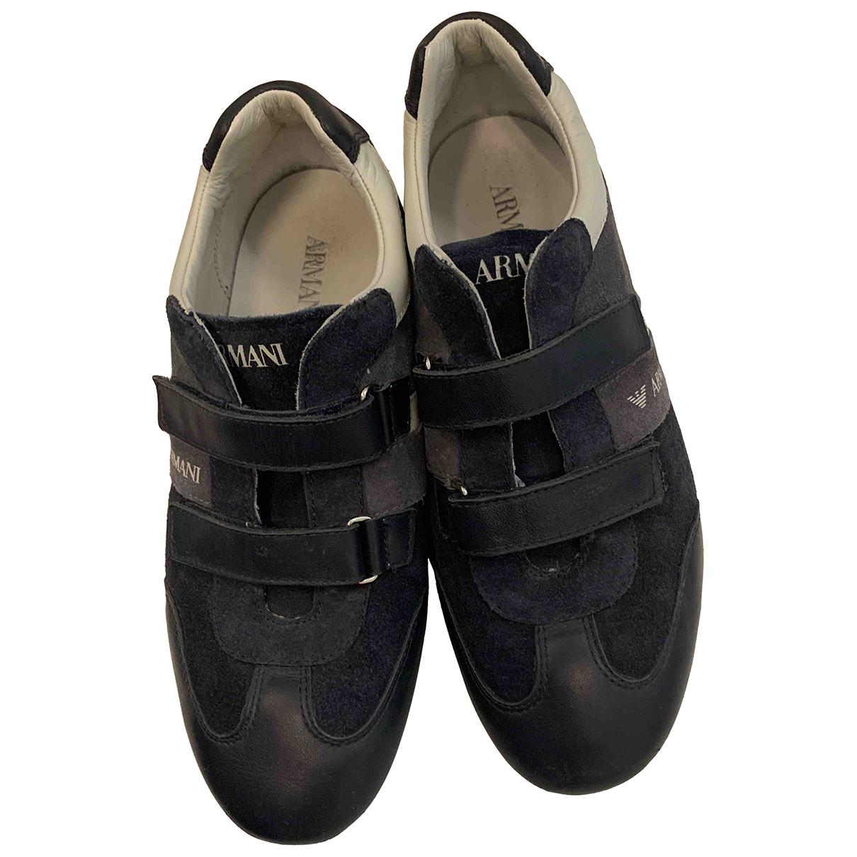 Armani Baby \N Sneakers in  Blau Leder