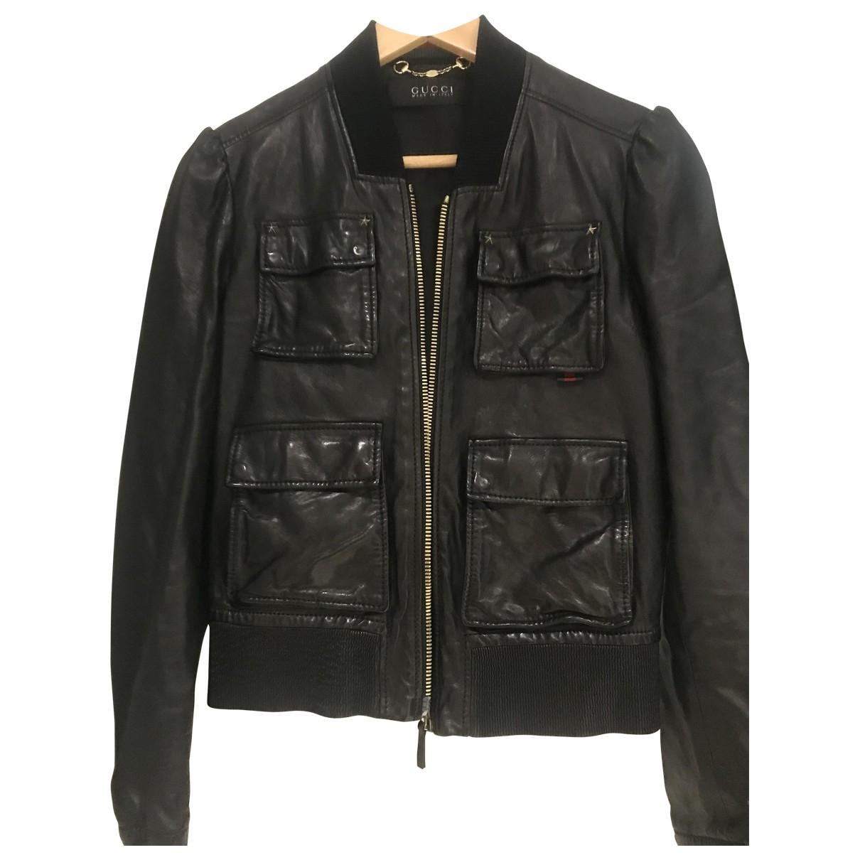 Gucci \N Lederjacke in  Schwarz Leder