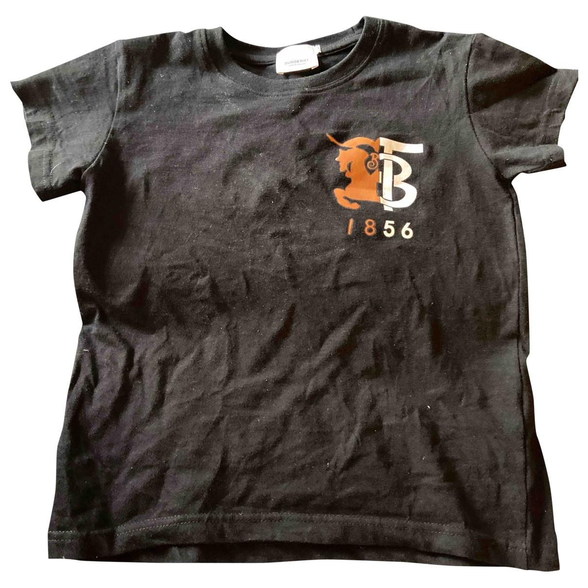 Burberry - Top   pour enfant en coton - noir