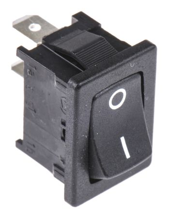 Marquardt Single Pole Single Throw (SPST), On-None-Off Rocker Switch Panel Mount