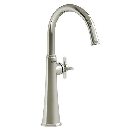 Momenti MMRDL01+PN-05 Single Hole Lavatory Faucet with + Cross Handle 0.5 GPM  in Polished