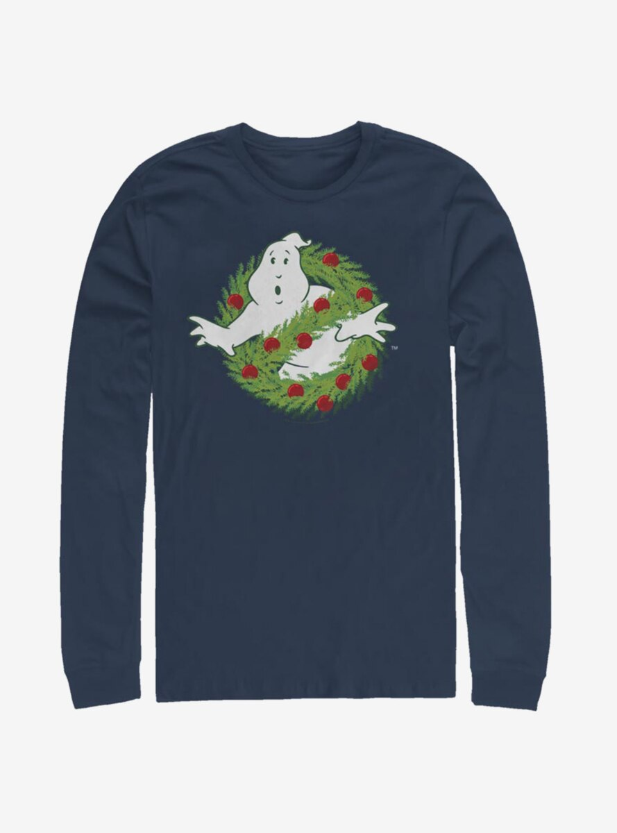 Ghostbusters Holiday Logo Long-Sleeve T-Shirt