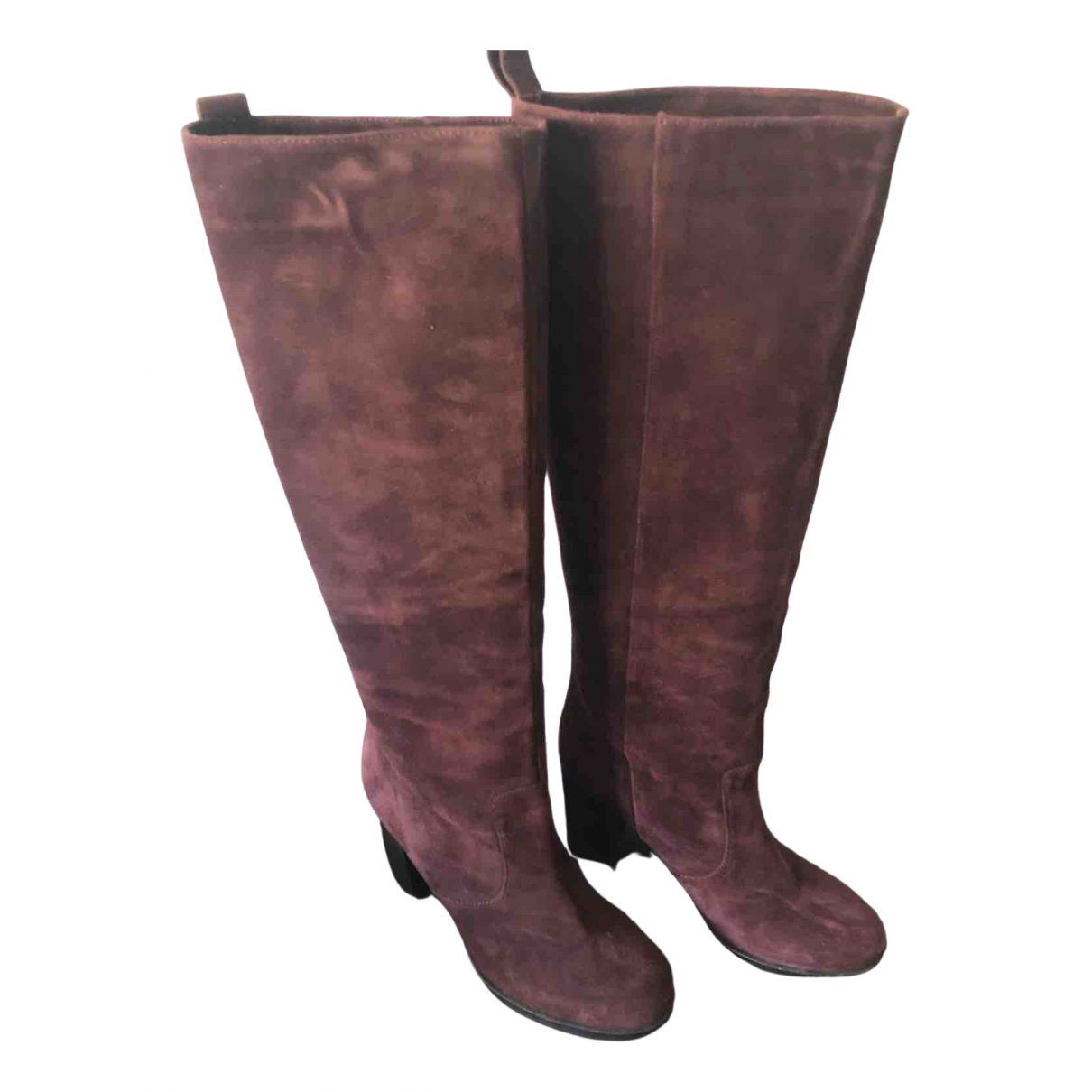 & Stories \N Burgundy Suede Boots for Women 38 EU