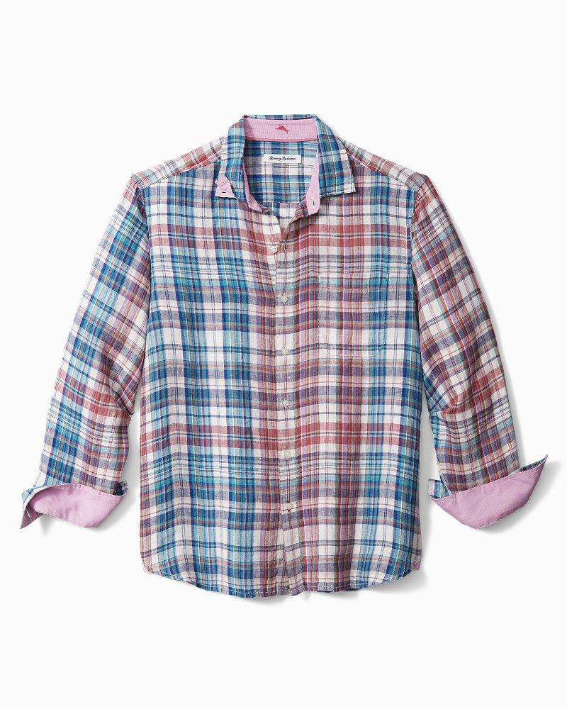 Big & Tall Madrona Madras Linen Shirt